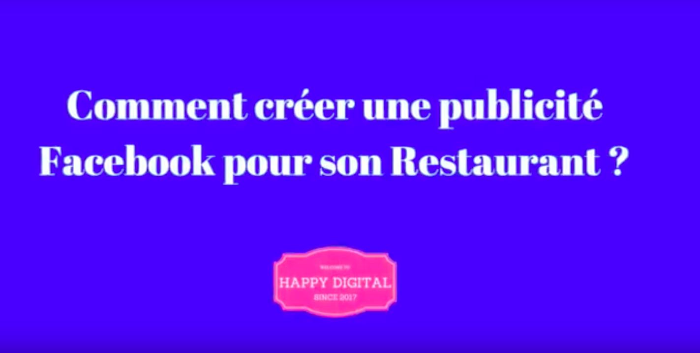 publicite facebook pour son restaurant